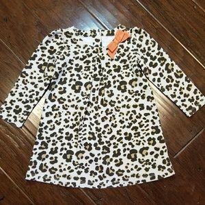 Girls long sleeved animal print dress.